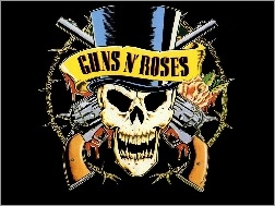 Czaszka, Zesp�, Logo, Guns And Roses